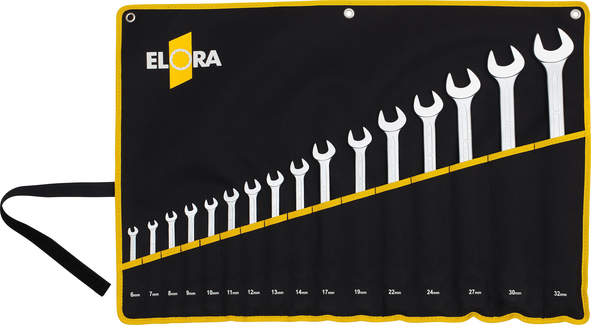 ELORA Combination Spanner Set DIN 3113, Form B, 16-pcs. 6-32 mm, ELORA-205S 16MT