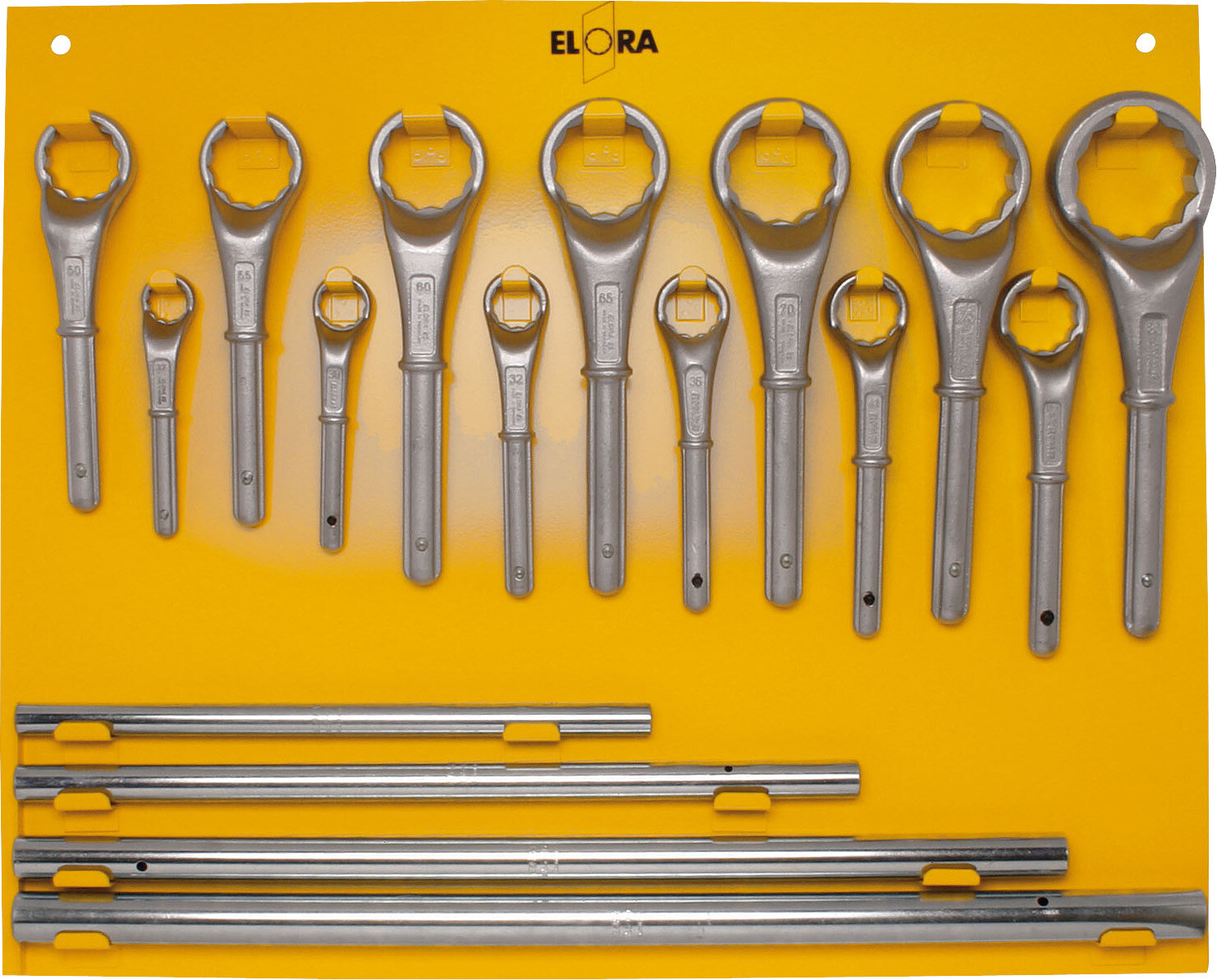 ELORA Metal display board for Constr. Ring Spanner-Sets, 16+17-pcs., ELORA-85L