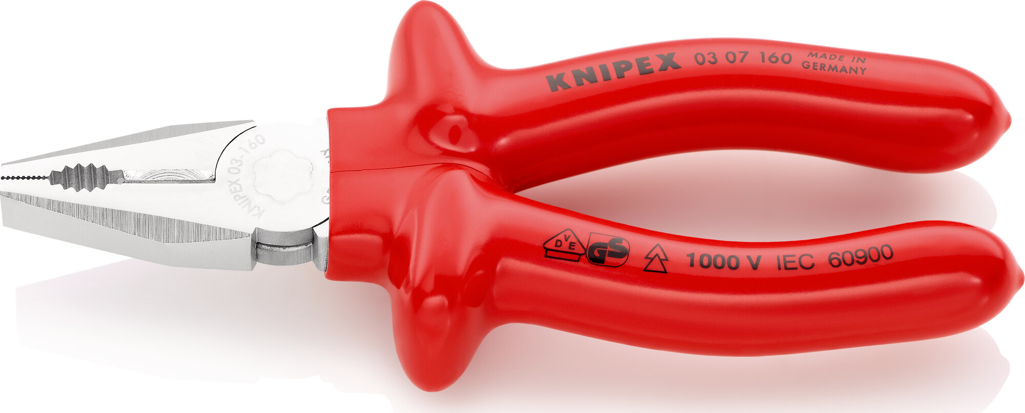 KNIPEX Combination Pliers chrome plated with dipped insulation, VDE-tested 160 mm, No KNPK0161_Greif_s.jpg