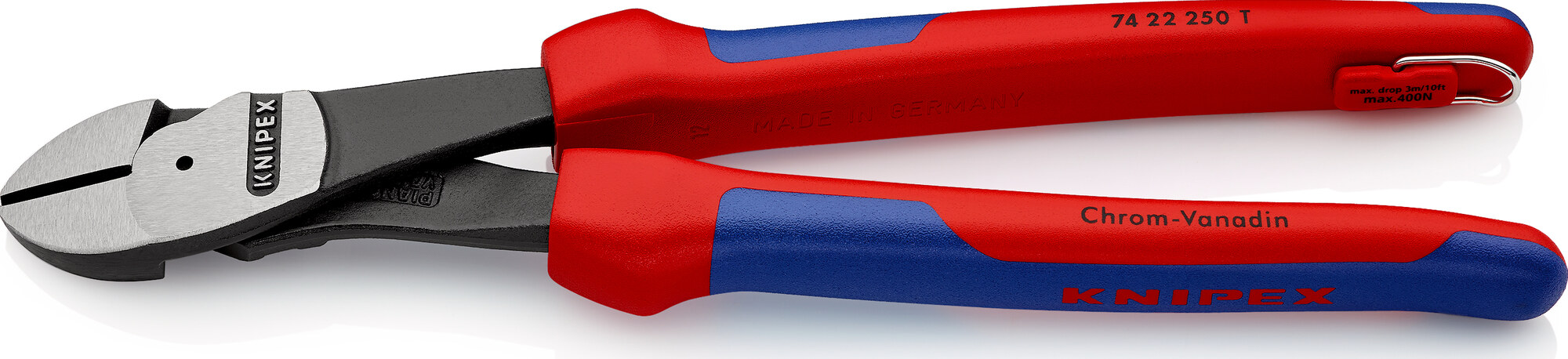 KNIPEX High Leverage Diagonal Cutter with tether attachment point 250 mm, No KNPK0141_Winkel-12_s.jpg