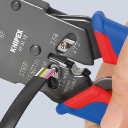 KNIPEX Crimping Pliers for Western plugs burnished with multi-component grips 200 mm, No 974970z1.jpg