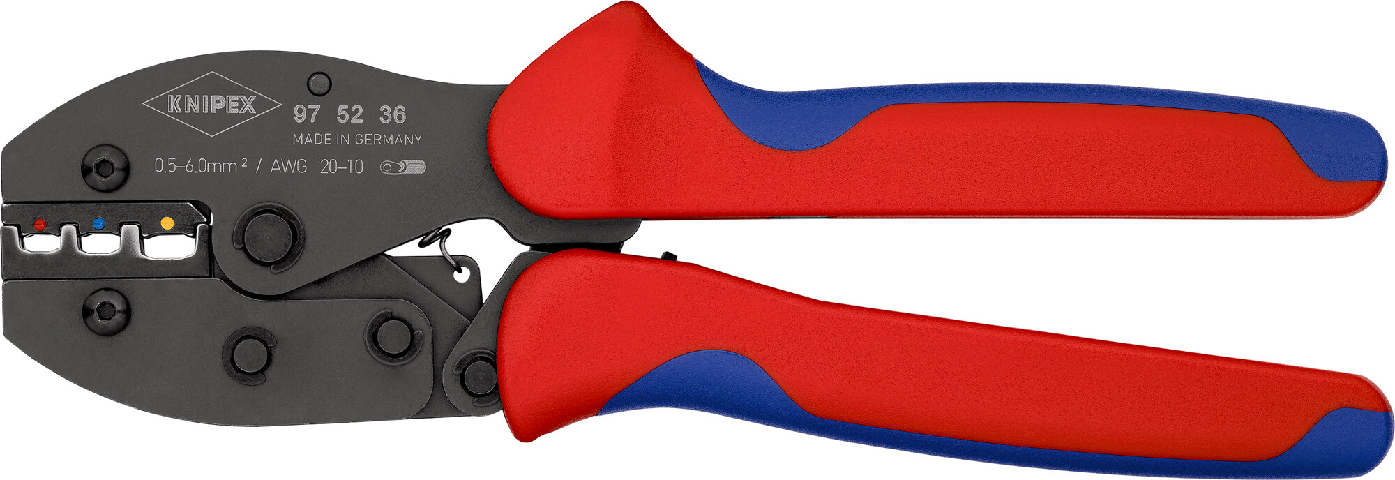 KNIPEX KNIPEX PreciForce® Crimping Pliers burnished with multi-component grips 220 mm, No https://youtu.be/tuUnHmDM2Q0