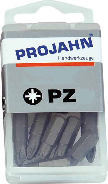 """PROJAHN 1//4/"""" Bit L25 mm Pozidriv Nr 1 10er Pack"""