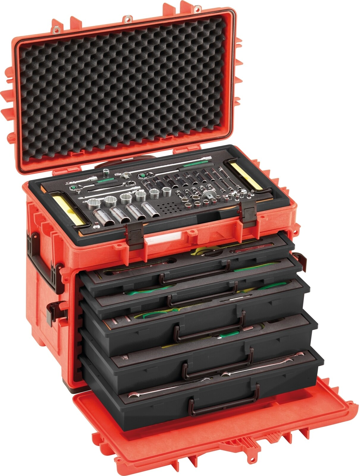 Stahlwille Line maintenance set in tool trolley No.13214 WT/LR 121-pcs.