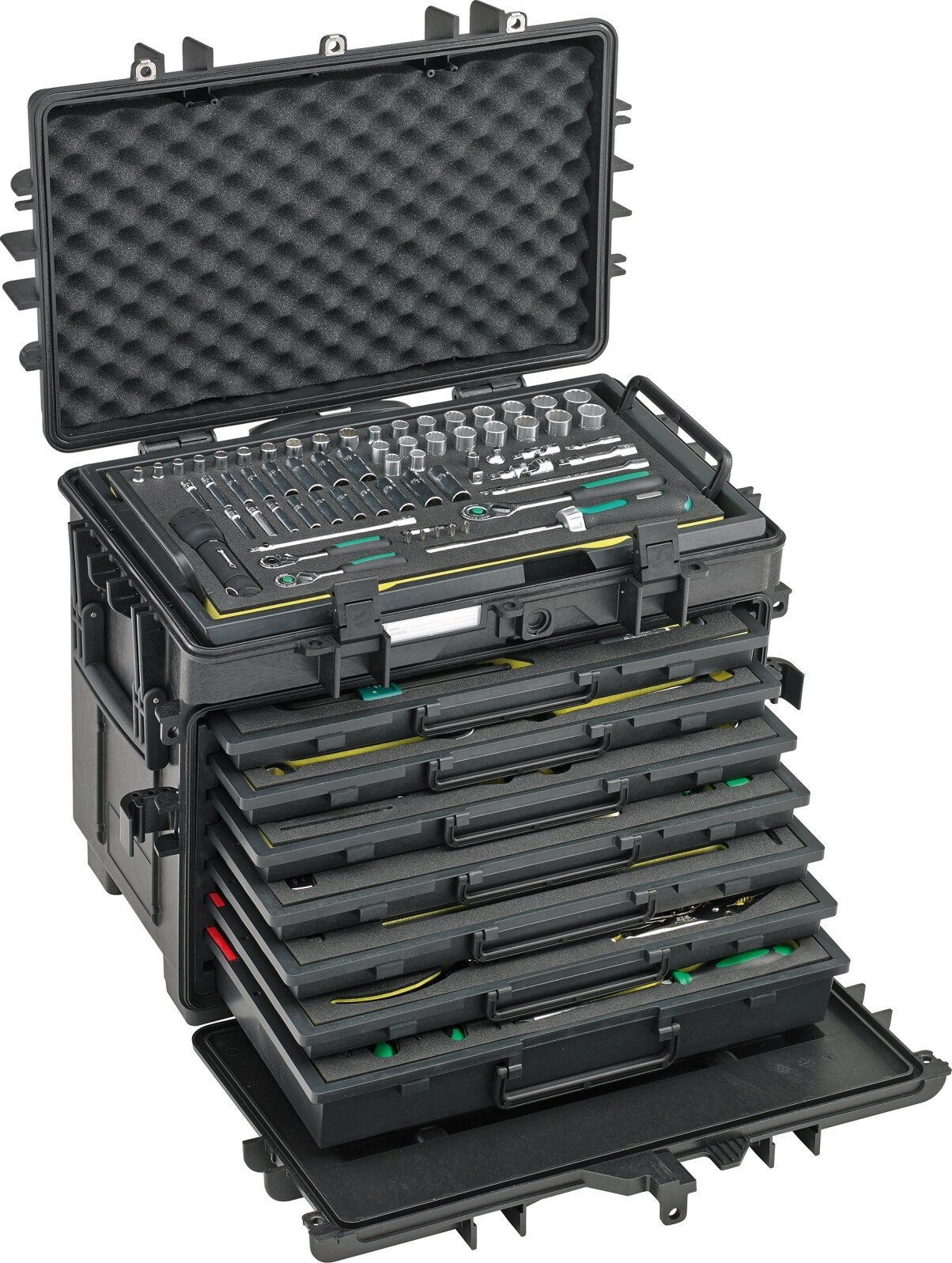 Stahlwille AOG-Kit for aeroplanes in tool trolley No.13221 WT/TS 163-pcs.